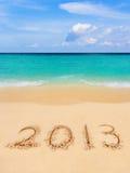 Numeri 2013 sulla spiaggia Fotografie Stock Libere da Diritti