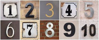 Numeri 1 - 10 Fotografia Stock