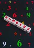 Numeri Fotografia Stock