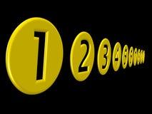 numeri 3D Fotografia Stock Libera da Diritti