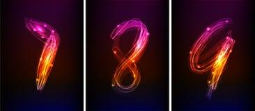 Numeri al neon Immagine Stock Libera da Diritti