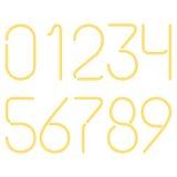 Numeri al neon Fotografie Stock