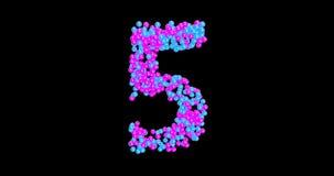 Numeri, animazione dei numeri con le palle commoventi +alpha royalty illustrazione gratis