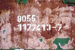 Numeri arrugginiti Fotografie Stock