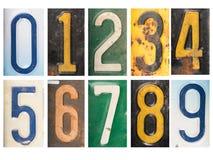 Numeri arrugginiti d'annata numerici Fotografia Stock