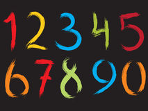 Numeri astratti Fotografia Stock