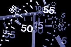 Numeri astratti Fotografie Stock Libere da Diritti