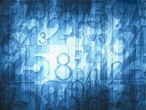 Numeri astratti blu scuro Fotografia Stock