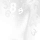 Numeri bianchi Fotografie Stock