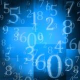 Numeri casuali illustrazione di stock