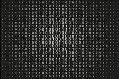 Numeri casuali 0 e 1 Fondo in uno stile della matrice Modello di codice binario con le cifre sullo schermo illustrazione vettoriale