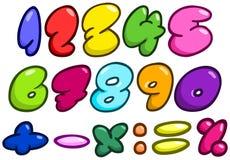 Numeri comici della bolla Fotografia Stock