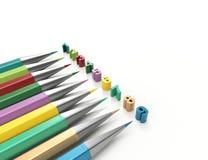 Numeri con la matita Fotografie Stock Libere da Diritti