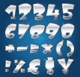 Numeri d'argento Fotografia Stock Libera da Diritti