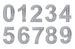 Numeri d'argento con i diamanti bianchi royalty illustrazione gratis
