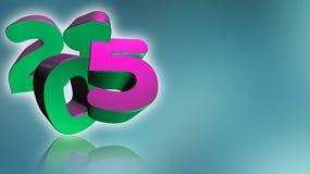 Numeri 2015 in 3D sul fondo di gray blu Immagine Stock