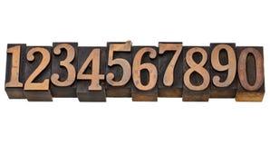 Numeri da zero a nove Fotografie Stock