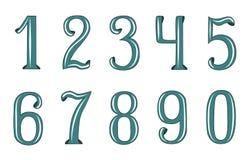 Numeri decorativi Fotografie Stock