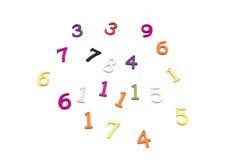 Numeri dei colori Fotografia Stock