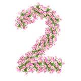 Numeri 2 dei fiori royalty illustrazione gratis