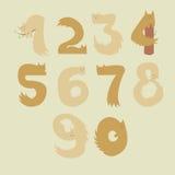Numeri dei gatti immagine stock