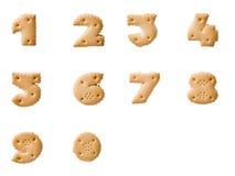 Numeri del biscotto Immagine Stock