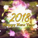 Numeri del buon anno 2018 degli anni Fotografie Stock