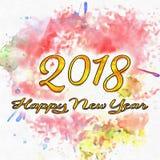 Numeri del buon anno 2018 degli anni illustrazione vettoriale