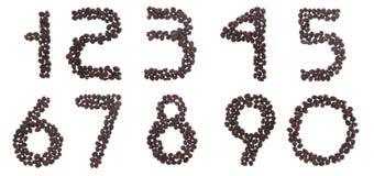 Numeri del caffè fotografie stock libere da diritti