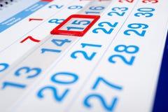 Numeri del calendario Immagine Stock Libera da Diritti