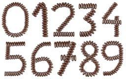 Numeri del cioccolato Fotografia Stock Libera da Diritti