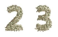 Numeri del dollaro Immagini Stock