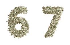Numeri del dollaro Fotografia Stock Libera da Diritti