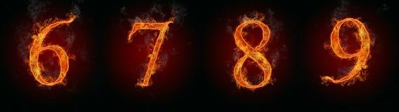 Numeri del fuoco Immagine Stock Libera da Diritti