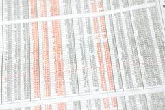 Numeri del mercato azionario fotografia stock libera da diritti