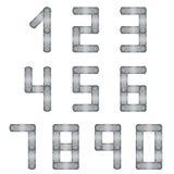 Numeri del metallo Illustrazione di Stock