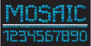 Numeri del mosaico Immagine Stock
