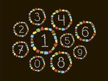 Numeri del mosaico Fotografia Stock Libera da Diritti