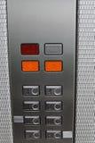 Numeri del pavimento dell'elevatore Fotografie Stock Libere da Diritti