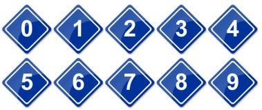 Numeri del segnale stradale fissati Fotografia Stock Libera da Diritti