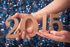 2015 numeri del segno Fotografia Stock Libera da Diritti