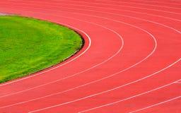 Numeri del vicolo della pista di atletica Fotografie Stock Libere da Diritti