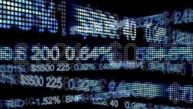 Numeri del Wall Street illustrazione di stock