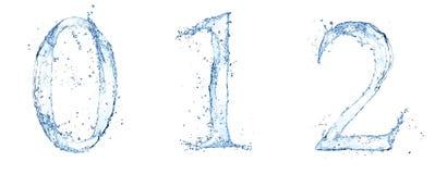 Numeri dell'acqua Fotografie Stock Libere da Diritti