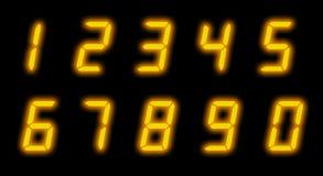 Numeri dell'affissione a cristalli liquidi di Digitahi Immagini Stock Libere da Diritti