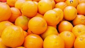Numeri dell'arancia nell'intera immagine video d archivio