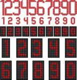 Numeri dell'esposizione di LED Fotografia Stock