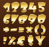 Numeri dell'oro Fotografia Stock Libera da Diritti