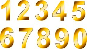 Numeri dell'oro Immagine Stock