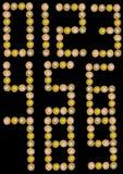 Numeri della focaccina del bigné Immagine Stock Libera da Diritti